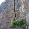 LSDaydream 5.8 T/TR 40 ft. <br> (illegal state land) 10 miles from Hemlock. Blue line is a dihedral project. Still has dirt in the crack at the top. Sorry no climbing in the photos I'm usually rope solo got no go pro. Okay 5.8 might be a little sandbagged, hand jams in the middle at the crux. Splitter crack suprise inside.