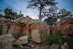 Rock Climbing Photo: The route description of Double Dipping.