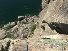 Rock Climbing Photo: Blue rope on Seam-iotics
