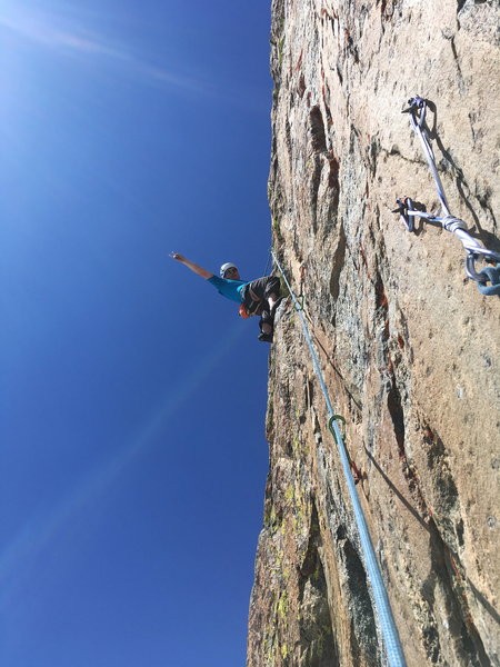 Rock Climbing Photo: 4th pitch is fun!