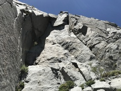 Rock Climbing Photo: Third pitch of Main Attraction on the face on the ...