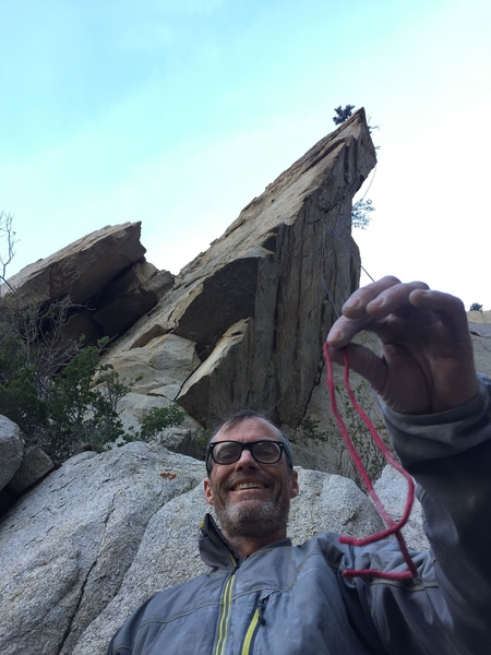 Rock Climbing Photo: standing at the base of Mule Skinner