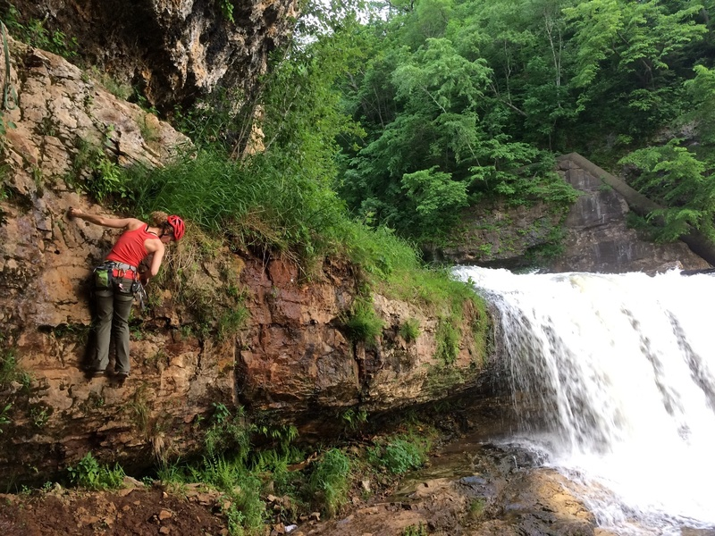 Rock Climbing Photo: Brutal when it's wet. Add at least one letter grad...
