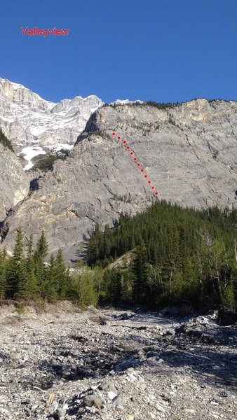 A look at Bankhead Buttress from the approach