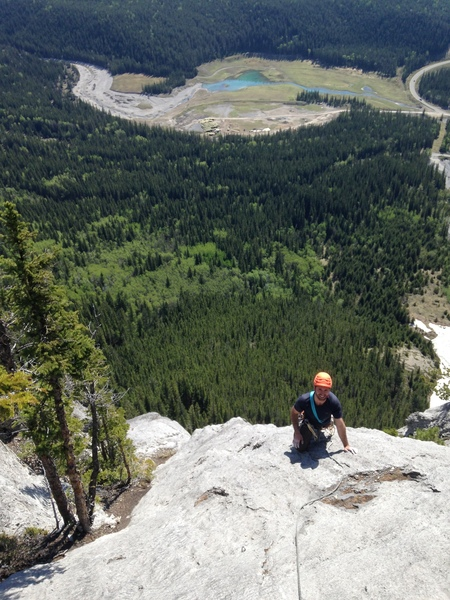 Looking down pitch 6