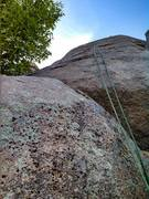 Rock Climbing Photo: The route goes up the left side of the rope. This ...