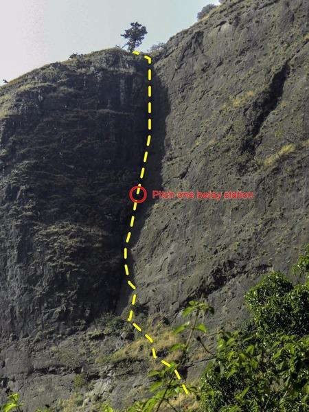 Rock Climbing Photo: Anjaneri East Face Chimney