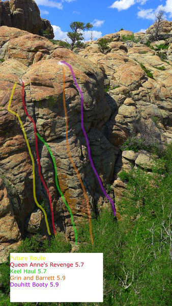Rock Climbing Photo: Overview of Routes