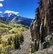 Lower East Buttress in Ophir, CO.