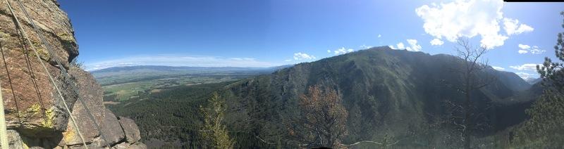 Rock Climbing Photo: The view atop a McCalla Ridge climb