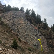 Rock Climbing Photo: Napoleon Wall showing Guillotine on the bottom rig...