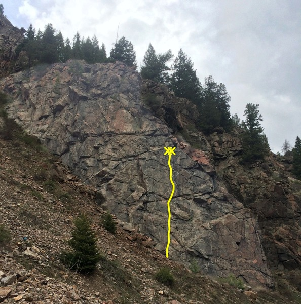Rock Climbing Photo: Napoleon Wall showing the location of Reaping Havo...