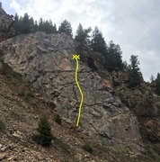 Rock Climbing Photo: Napoleon Wall showing the location of Don't Forget...