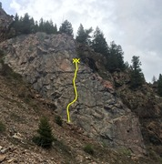 Rock Climbing Photo: Napoleon Wall showing the location of Rosette (5.8...