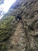 Me bouldering big rock