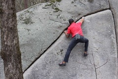 Robin Perkins on (Easy Crack Traverse).