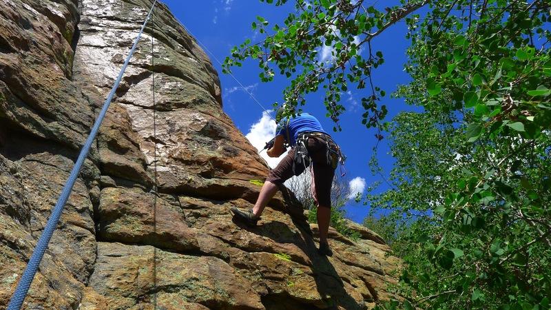 Rock Climbing Photo: Drilling