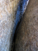 Rock Climbing Photo: The inside of the lower part of Death Flake.
