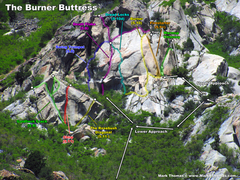 Rock Climbing Photo: Burner Buttress seen from the Little Cottonwood Ca...