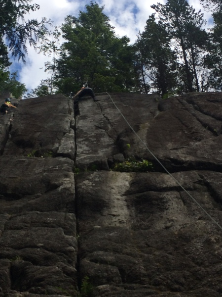 Rock Climbing Photo: According to our guide the route is straight up th...