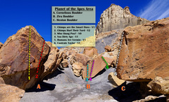Rock Climbing Photo: Planet of the Apes Routes