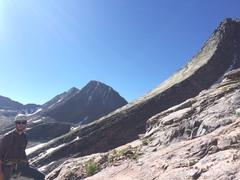 Rock Climbing Photo: Climbing Arrow peak - view of Wham Ridge on Vestal