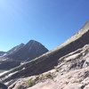 Climbing Arrow peak - view of Wham Ridge on Vestal