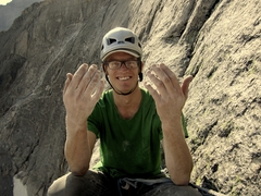 Rock Climbing Photo: Broken pinkie? No biggie. Drew will still climb it...