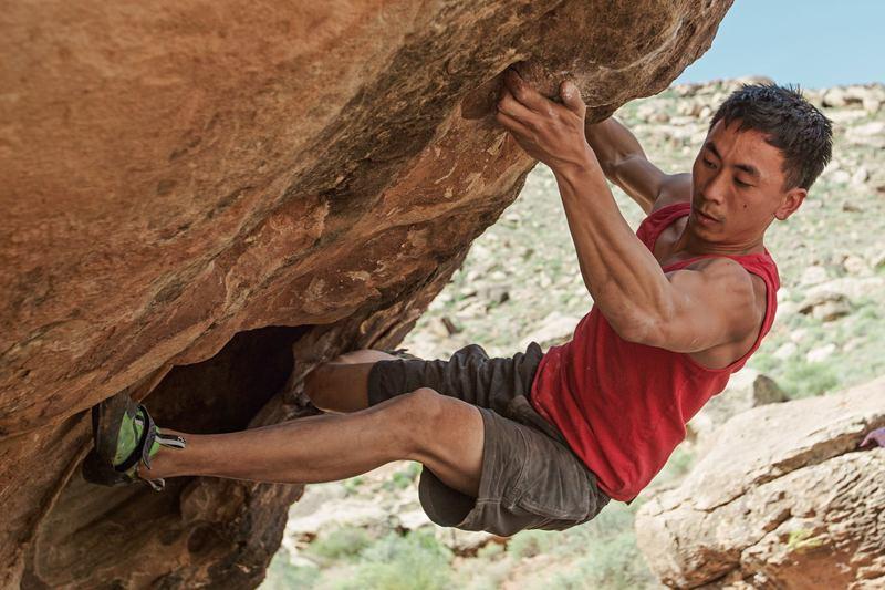 Rock Climbing Photo: Moving through the bottom rail   Photo credit: H...