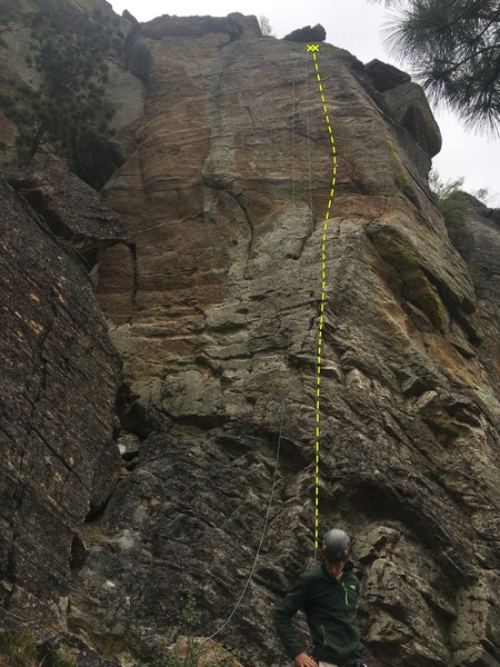 A great climb that shares anchors with Spice-Town and GB Packers crack