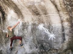 Rock Climbing Photo: Henry on Midnight Lightning