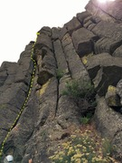 Rock Climbing Photo: Nimrod's Nemesis is the crack with the rope.