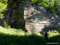 "Rock Climbing Photo: The ""Hauptwand"" or main wall. There's a ..."