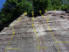 "Rock Climbing Photo: Photo of the main arete, or ""Kentheimer Kante..."