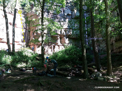 Rock Climbing Photo: Build a fire and grill up some bratwursts, put up ...