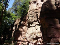 Rock Climbing Photo: The far left area of the crag