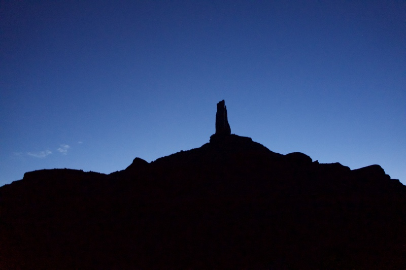 The tower just before dawn.