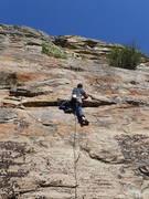 Rock Climbing Photo: EH climbing it....