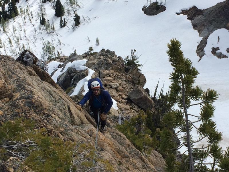 Rock Climbing Photo: Nick Direen somewhere in scramble-land.