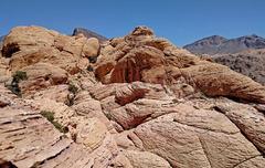 Rock Climbing Photo: Calico Peak summmit ridge - from SW