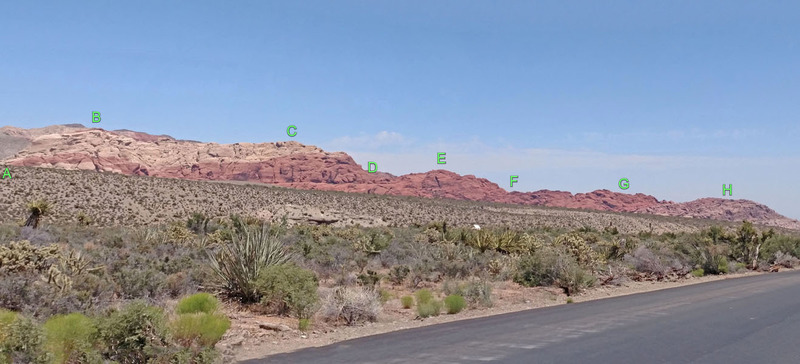 Calico Hills seen from far west