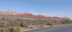Rock Climbing Photo: Calico Hills seen from far west A. Sandstone Quar...