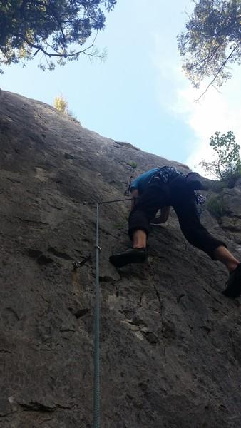 Rock Climbing Photo: Joe starting the lead