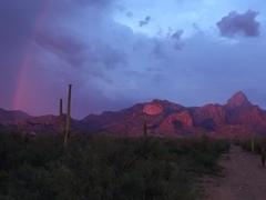 West side sunset, near Fresnel Canyon.