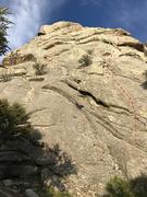Rock Climbing Photo: Scrambled with Chorizo follows the red line (share...