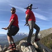 Rock Climbing Photo: Vance and I on unknown peak (2017)