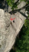 Rock Climbing Photo: Anthony DiDonato on Thin Air, Cathedral Ledge, NH....