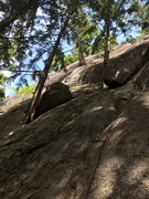 Rock Climbing Photo: Shows the start of pitch 1 which is a face climb o...