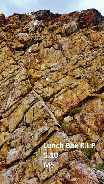Rock Climbing Photo: Lunchbox R.I.P.