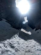 Rock Climbing Photo: Just below the ice crux.
